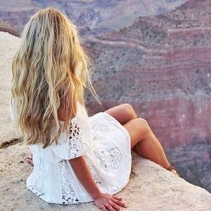 The Jetset Diaries Gypsy Mini Dress White